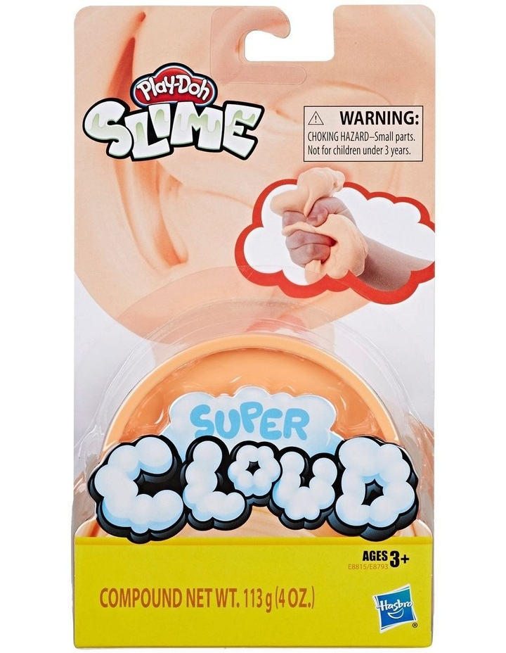 Play-Doh Super Cloud Single Fluffy Slime Compound Can Assortment image 4