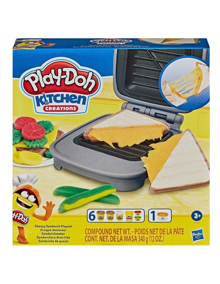 Kitchen Creations - Cheesy Sandwich Play Food Set - Incl Play-Doh Elastix Compound & 6 Dough Compounds image 2