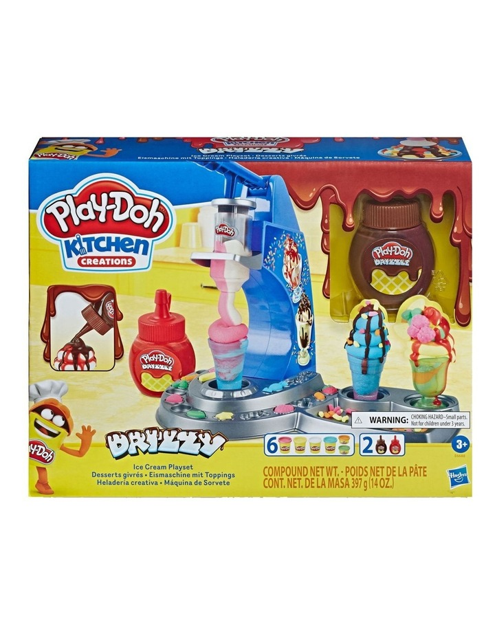 Play-Doh Kitchen Creations - Dizzy Ice Cream Playset - Inc Drizzle Compound & 6 Non-Toxic Play-Doh Colours - Ages 3  image 2