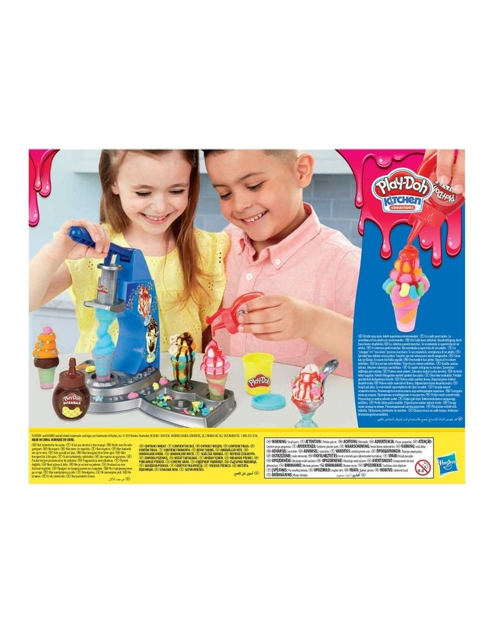 Play-Doh Kitchen Creations - Dizzy Ice Cream Playset - Inc Drizzle Compound & 6 Non-Toxic Play-Doh Colours - Ages 3  image 3