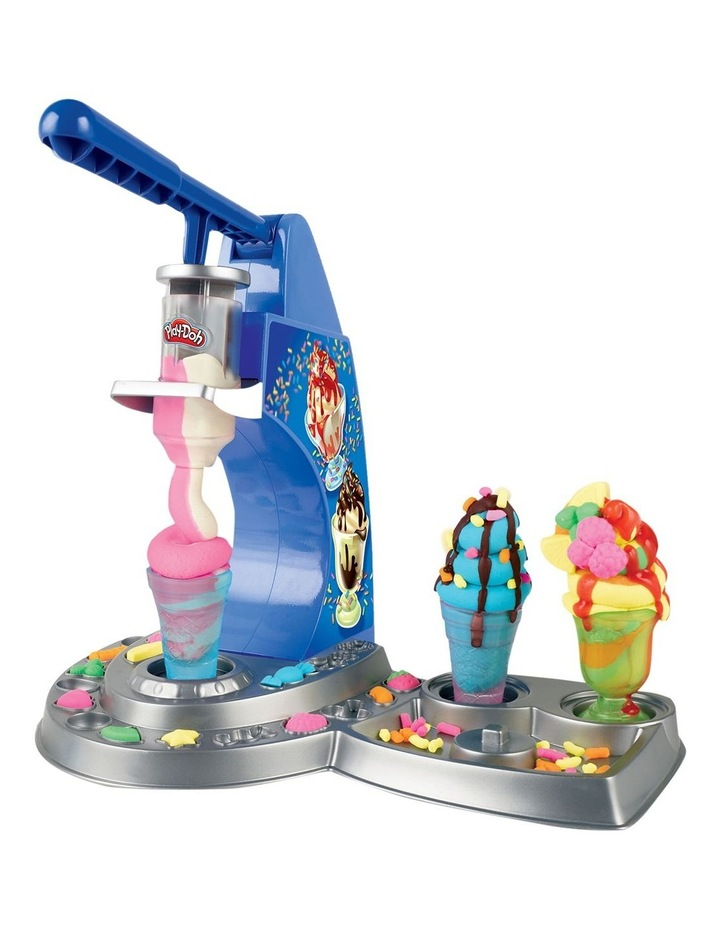 Play-Doh Kitchen Creations - Dizzy Ice Cream Playset - Inc Drizzle Compound & 6 Non-Toxic Play-Doh Colours - Ages 3  image 4