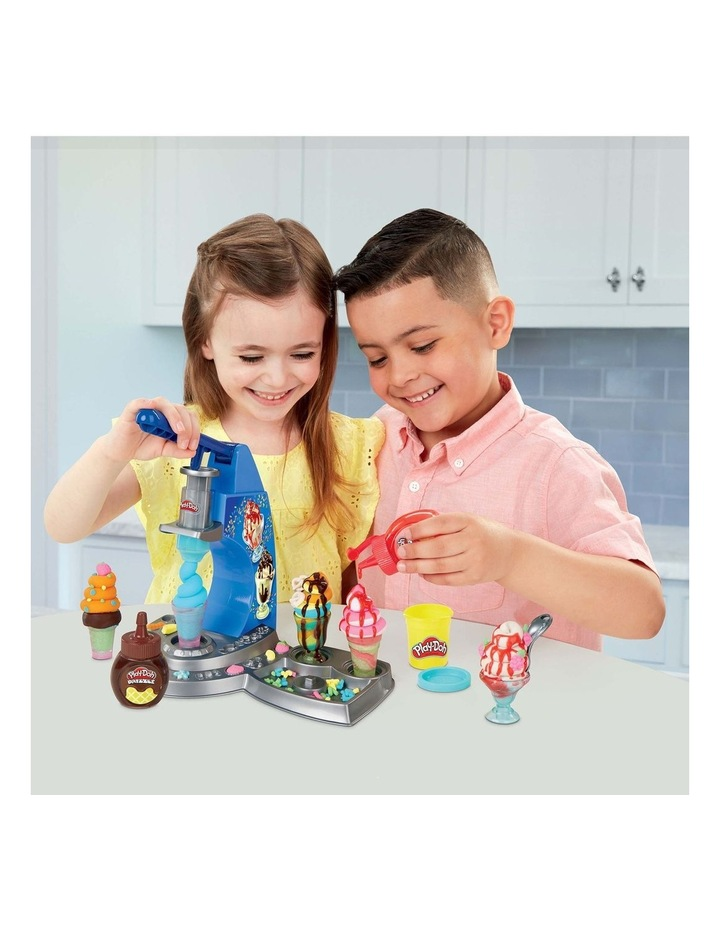 Play-Doh Kitchen Creations - Dizzy Ice Cream Playset - Inc Drizzle Compound & 6 Non-Toxic Play-Doh Colours - Ages 3  image 7
