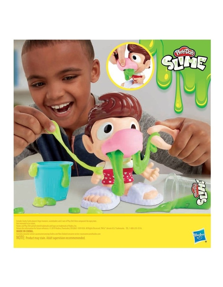 Play-Doh Slime - Snotty Scotty Funny Toy with 2 Cans of Slime image 4