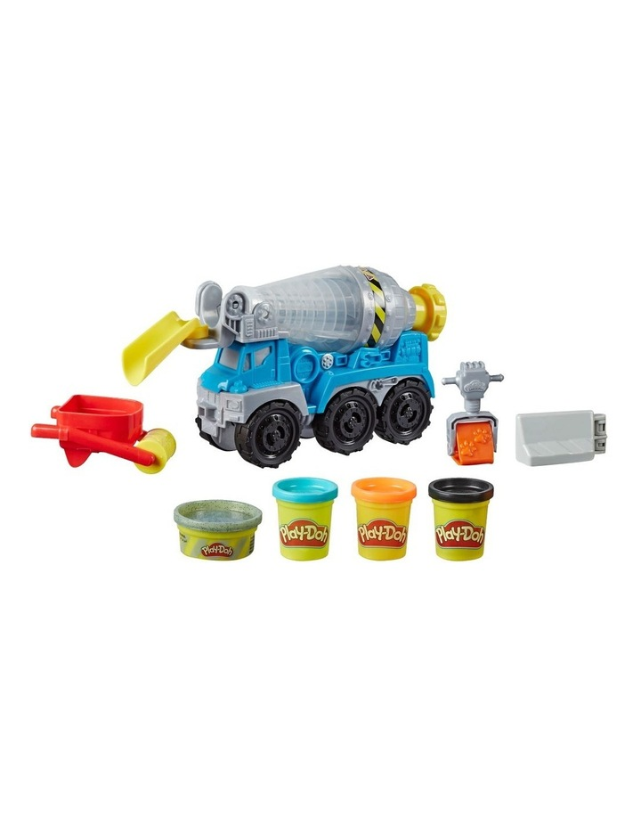 Wheels Cement Truck Toy with 4 Non-Toxic Colors image 1