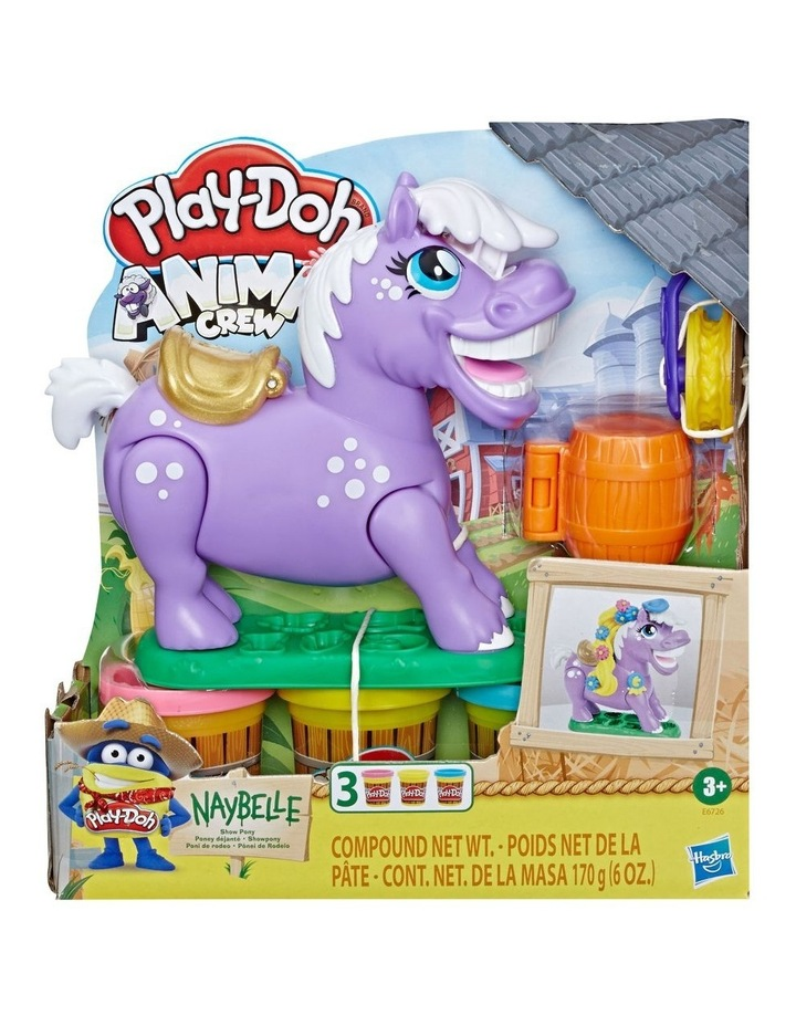 Animal Crew Naybelle Show Pony Farm Animal Playset with 3 Non-Toxic Colors image 3