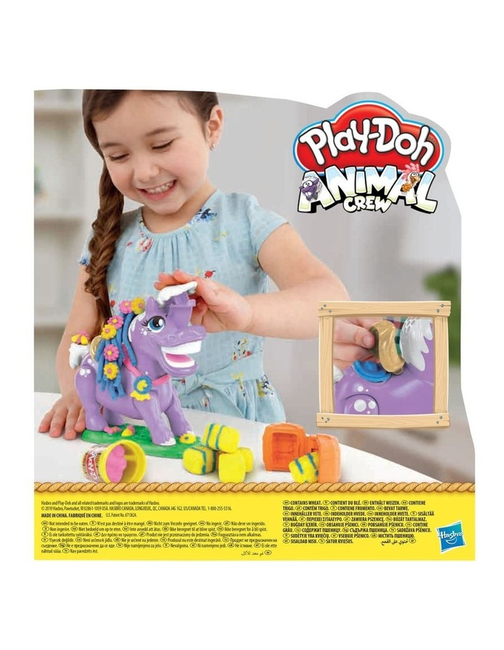 Animal Crew Naybelle Show Pony Farm Animal Playset with 3 Non-Toxic Colors image 4