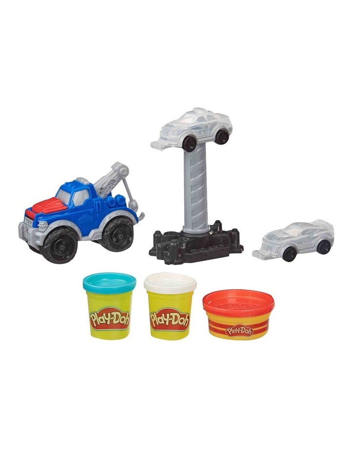 Wheels Tow Truck Toy for Kids 3 Years and Up with 3 Non-Toxic Play-Doh Colors image 1