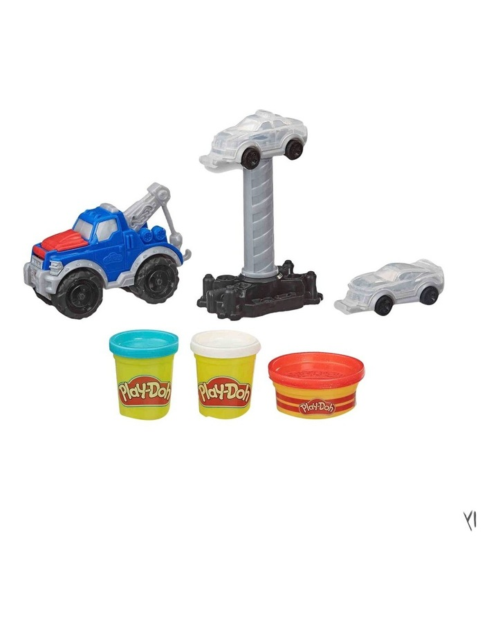 Wheels Tow Truck Toy for Kids 3 Years and Up with 3 Non-Toxic Play-Doh Colors image 2