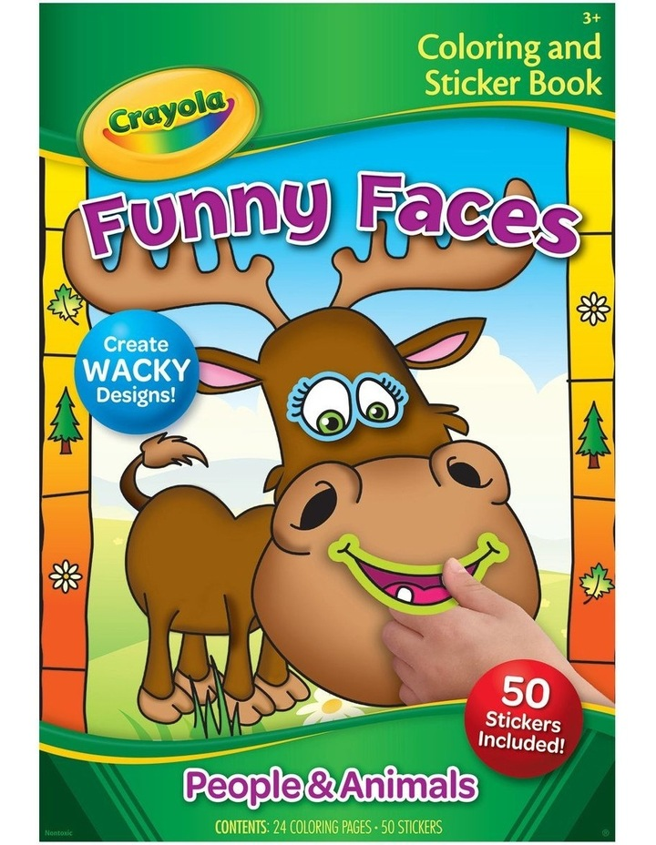 Funny Faces Coloring Book image 1