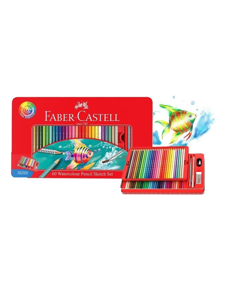 Watercolour Pencil Tin 60   Colour Wheel image 1