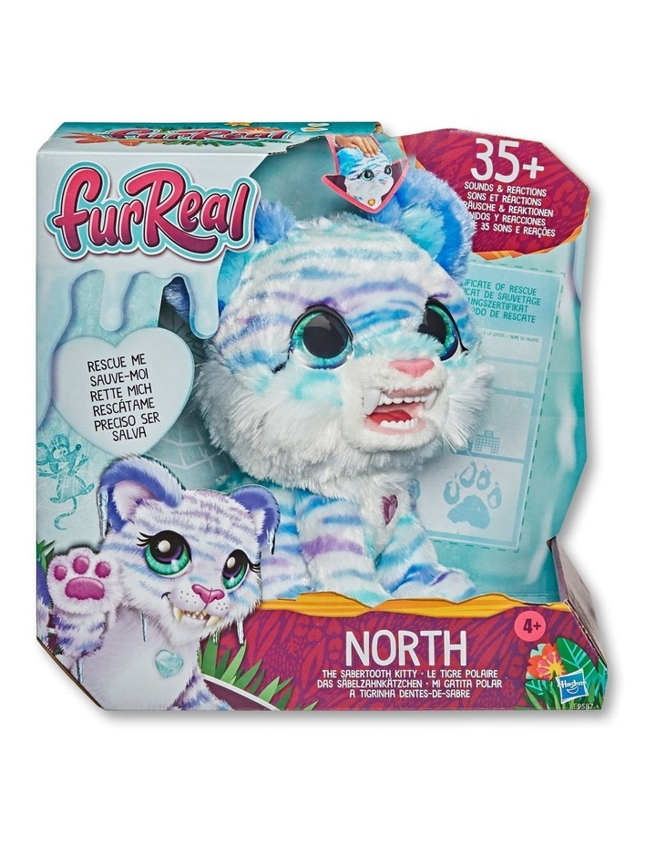 North the Sabertooth Kitty Interactive Pet Toy - 35  Sound & Motion Combinations image 2