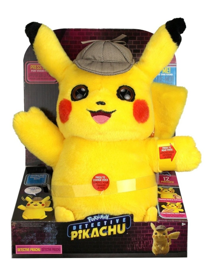 Detective Pikachu Feature Talking Plush image 1