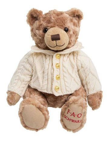FAO Schwarz Toy Plush Anniversary Bear