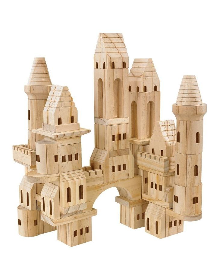 Wood Castle Blocks 75pcs image 1