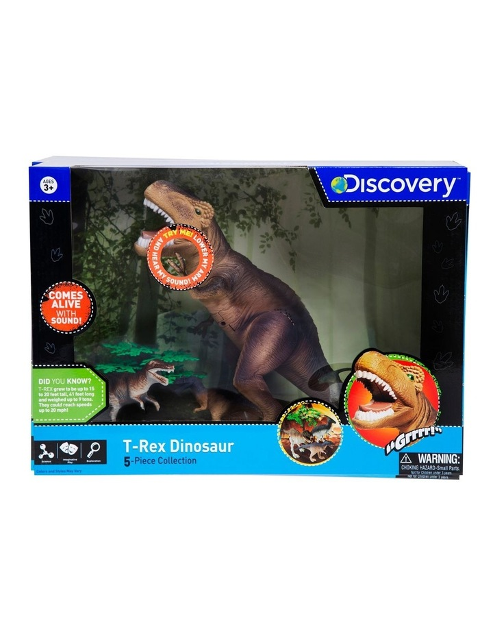 Toy Dinosaur Set 5pc T-Rex image 1