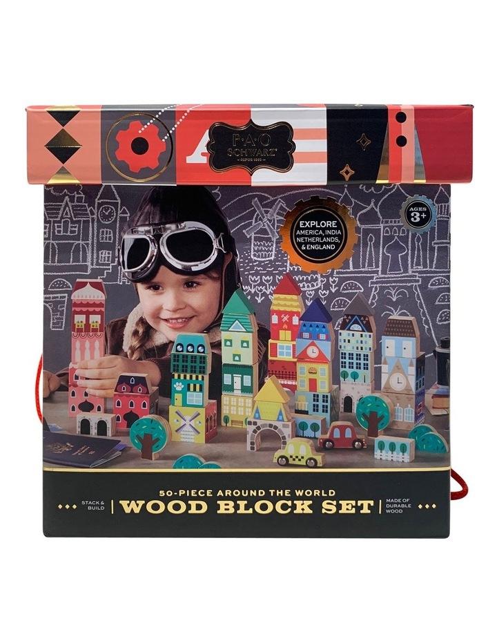 Toy Wood Blocks Printed 50pc image 1