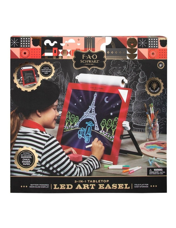 Toy Easel Tabletop LED 3in1 image 1