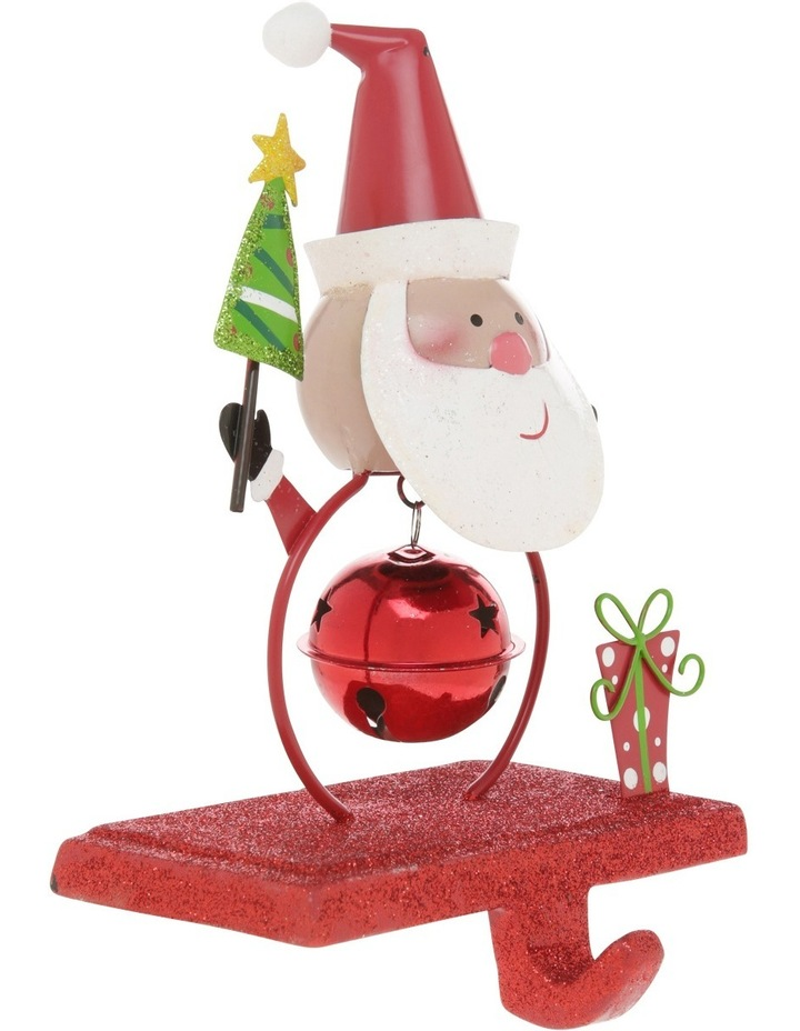 Heirloom 19cm Red Metal Santa Stocking Hanger image 2