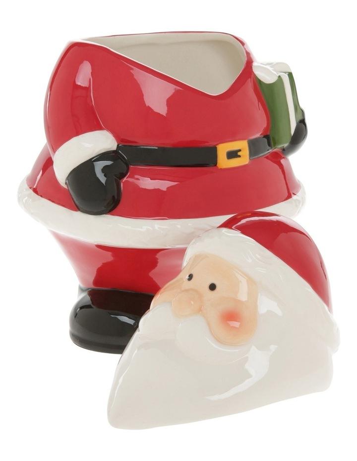 Fat Red Glass Santa Cookier Jar image 3