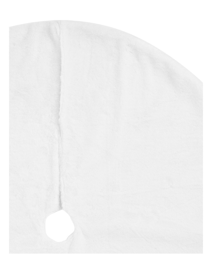 Luxe White Fur Tree Skirt image 2