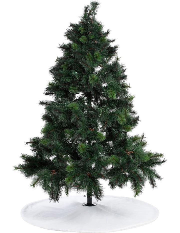 Luxe White Fur Tree Skirt image 3