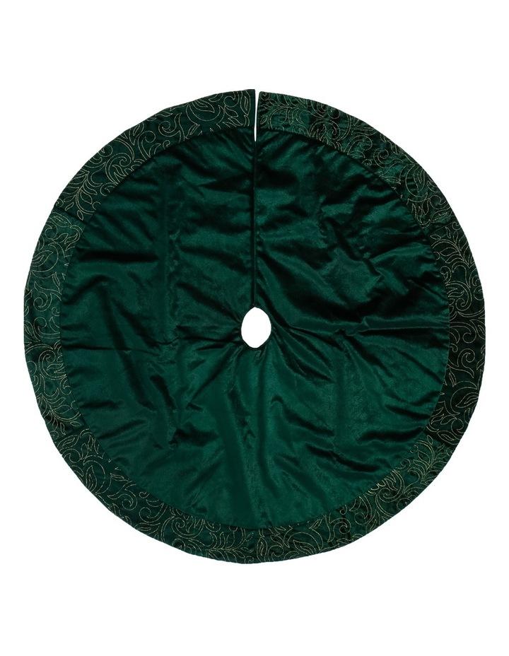heirloom-alpine-green-sequin-patter-tree-skirt by myer-giftorium