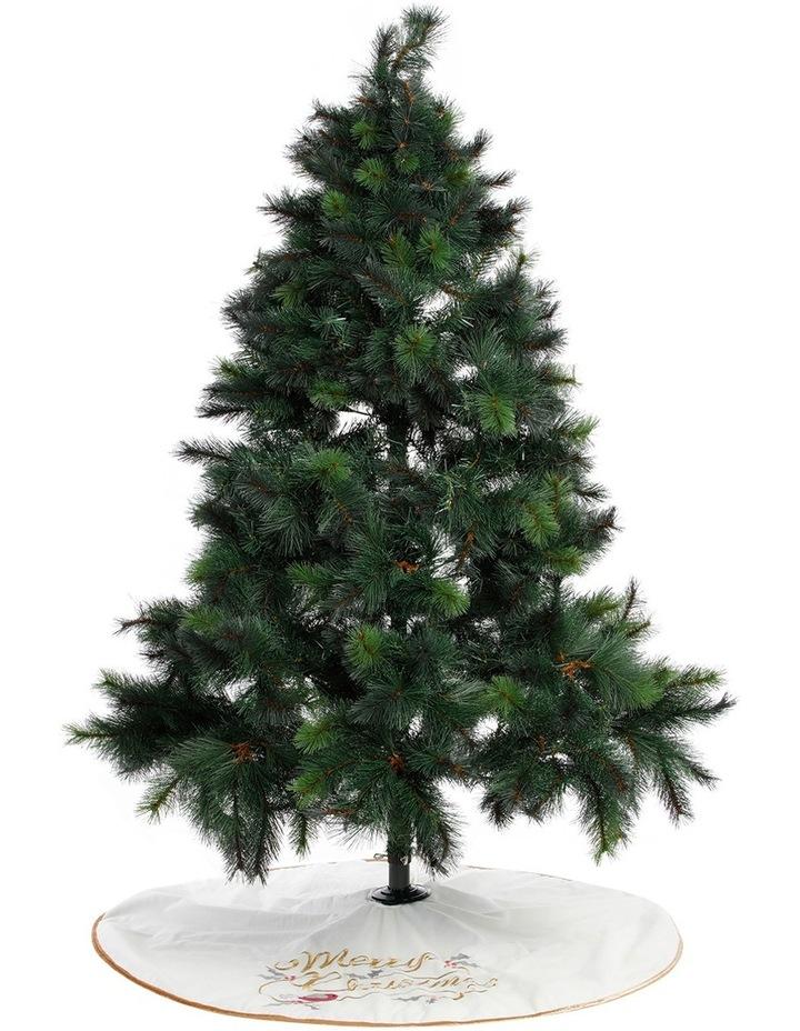 Luxe 1.2m Eggnog Merry Christmas with Robin Bird Skirt image 3
