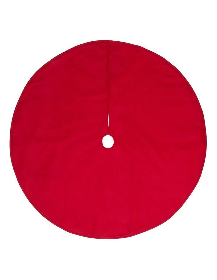 Heirloom Traditional Plain Red Tree Skirt image 1
