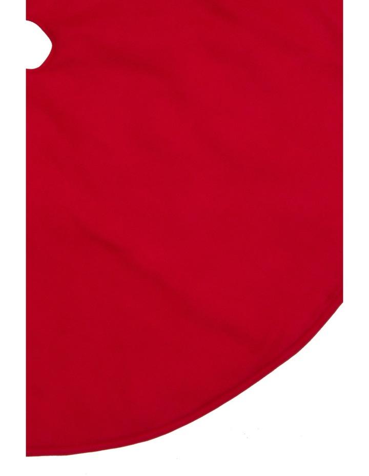 Heirloom Traditional Plain Red Tree Skirt image 2
