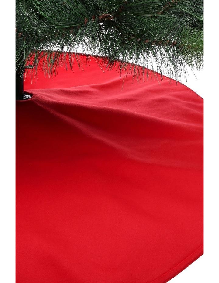 Heirloom Traditional Plain Red Tree Skirt image 3