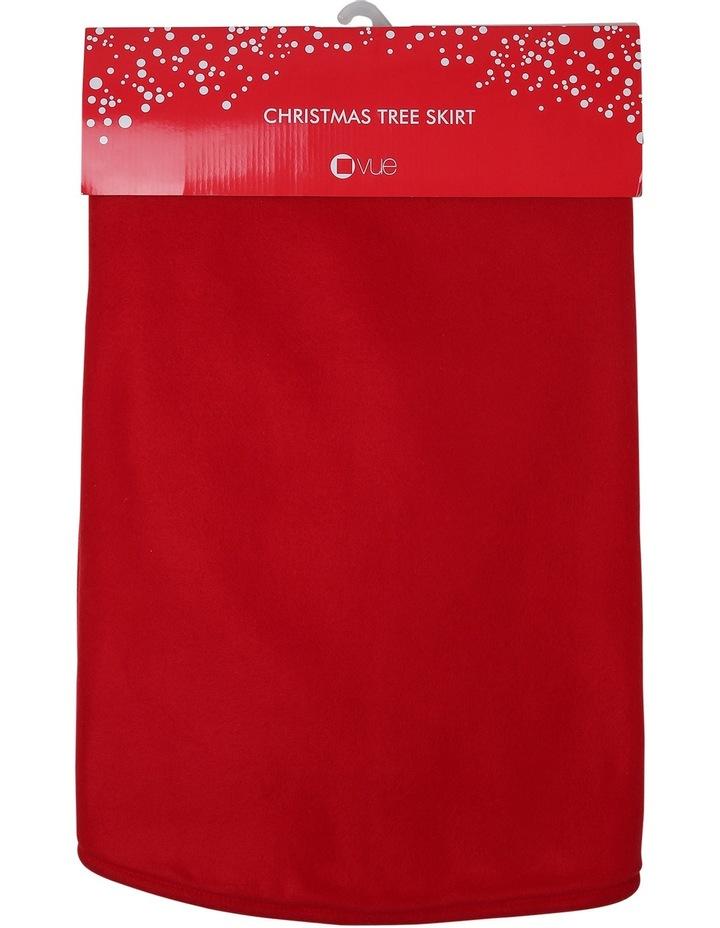 Heirloom Traditional Plain Red Tree Skirt image 4