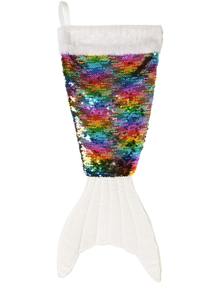 Limited Edition Multi Colour Sequin Mermaid Stocking image 1