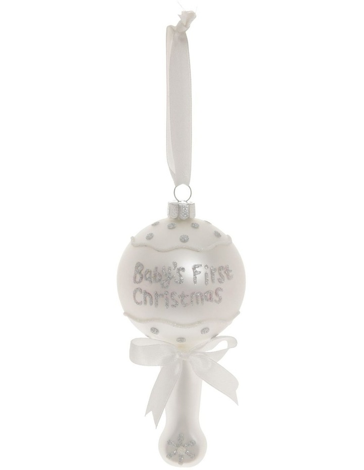 Baby's First Glass White Rattle image 1