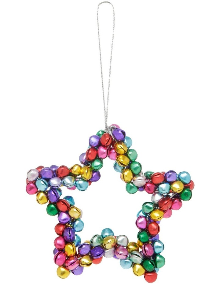Heirloom 10cm Multi Colour Metal Bell Star image 1