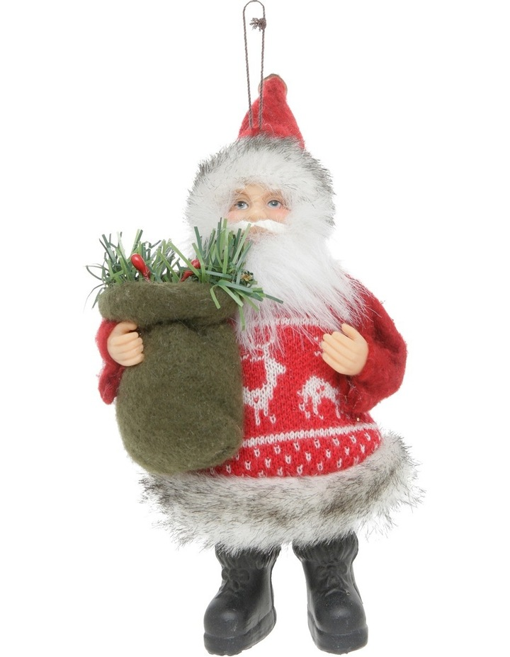 Heirloom 20cm Red Santa With Fabric Coat image 1