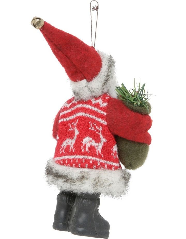 Heirloom 20cm Red Santa With Fabric Coat image 2
