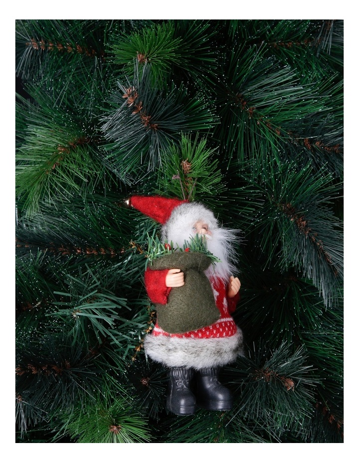 Heirloom 20cm Red Santa With Fabric Coat image 3