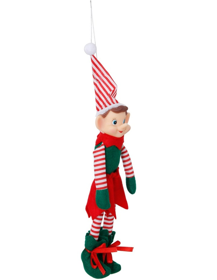 Heirloom Red, White and Green Plastic Elf with Stripes image 2