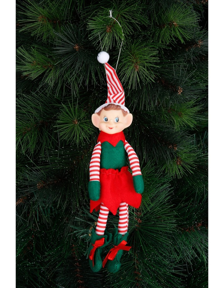 Heirloom Red, White and Green Plastic Elf with Stripes image 3
