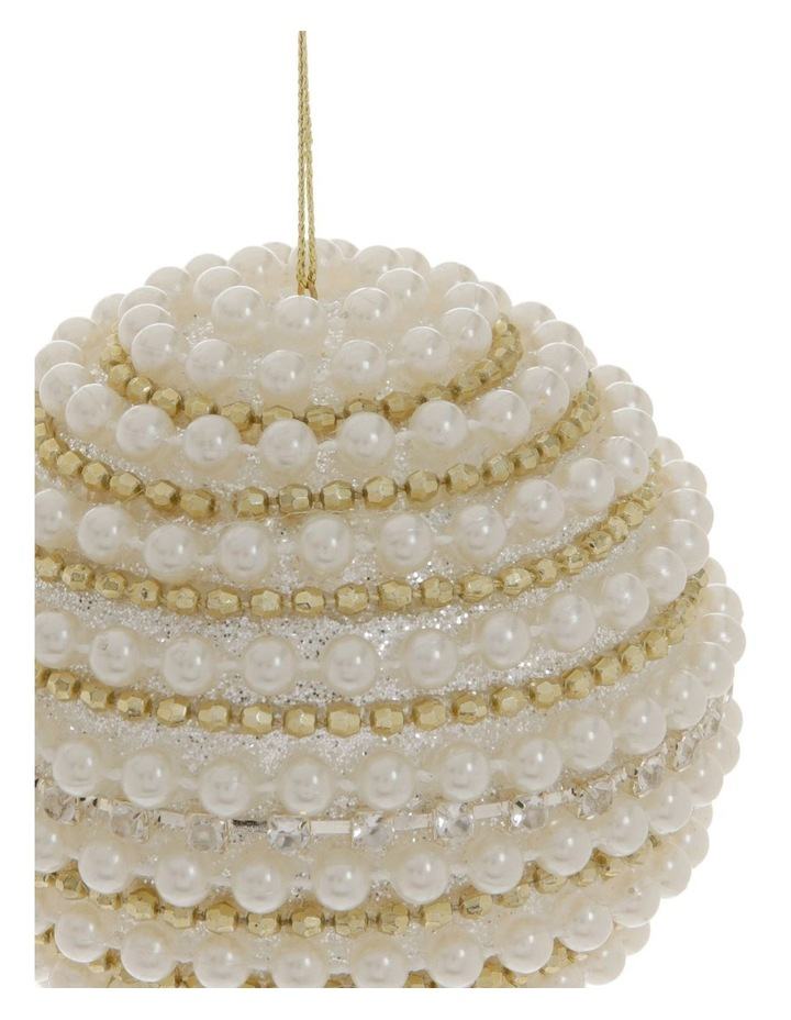 Luxe Beaded Ball Ornament image 2