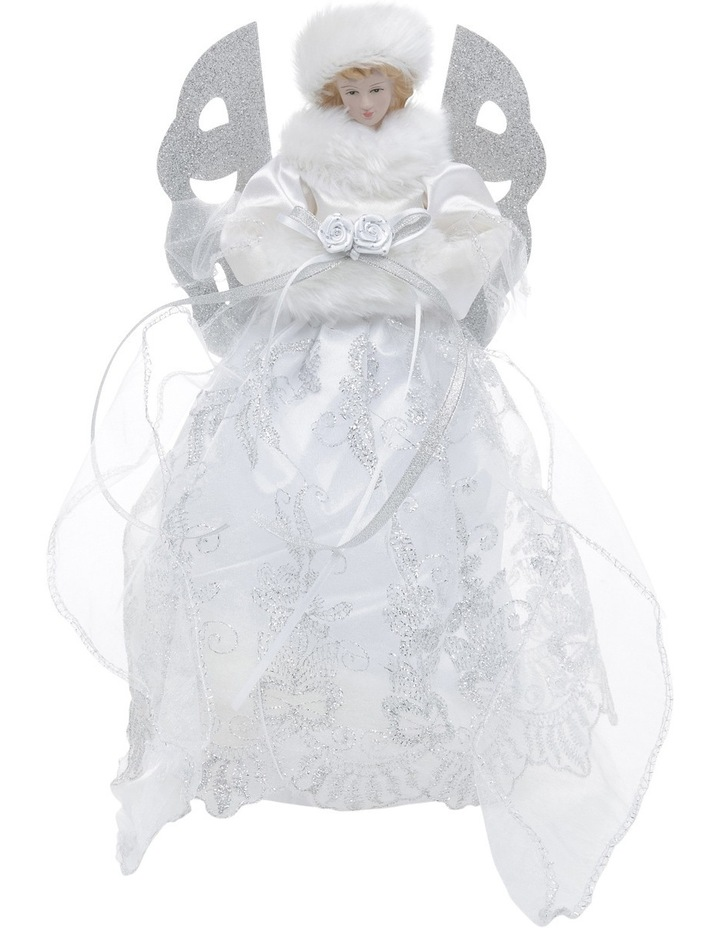 Luxe White And Silver Angel Tree Topper image 1