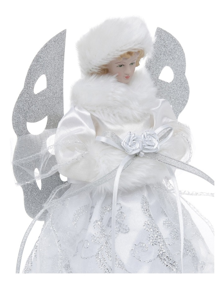 Luxe White And Silver Angel Tree Topper image 2