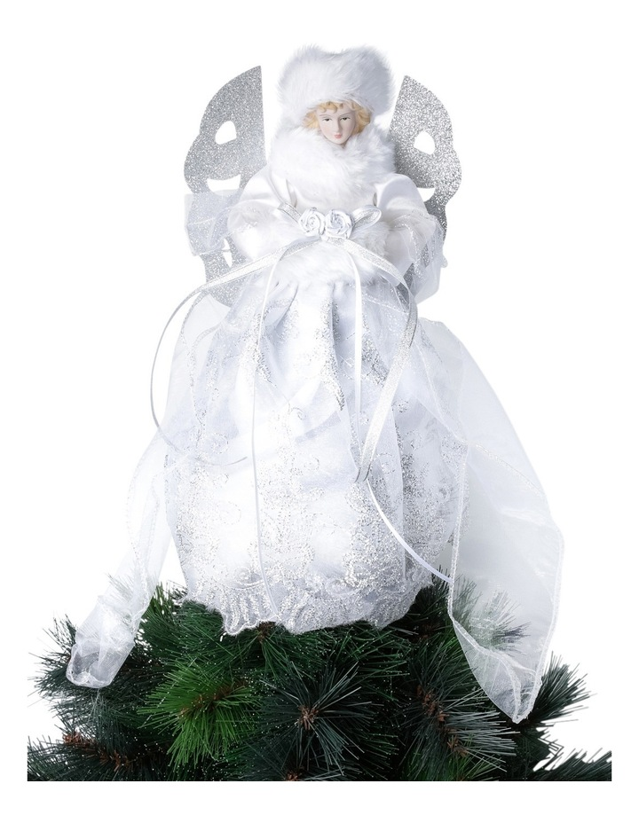 Luxe White And Silver Angel Tree Topper image 3