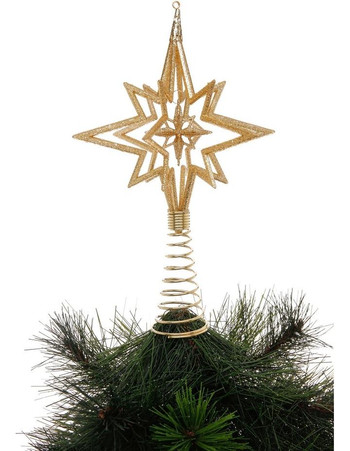 Heirloom 3D Glitter Gold Star Tree Topper image 2
