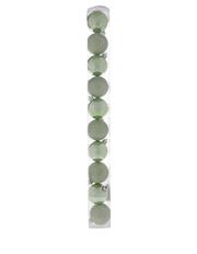Eucalyptus 10 Piece 6cm Shatterproof Cameo Green Shiny n Glitter Baubles