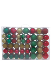 Heirloom 100 Pieces - Shatterproof Gold, Red And Green Assorted Pack
