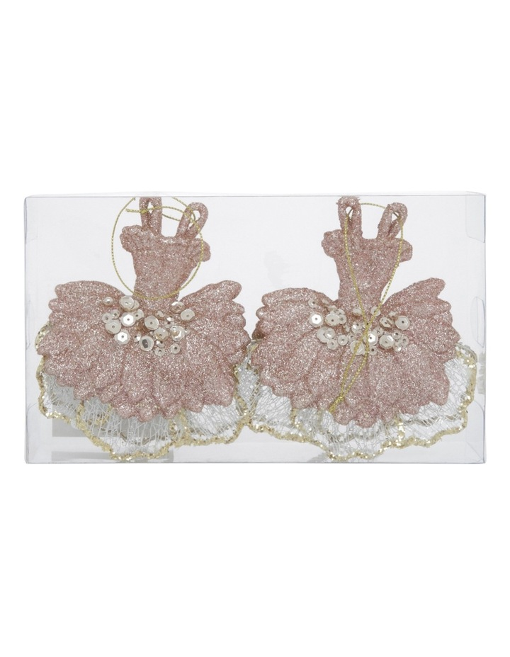 Luxe 2 Pieces - Plastic Lilac Glitter Ballet Dress w/ Pearls n Sequins image 1