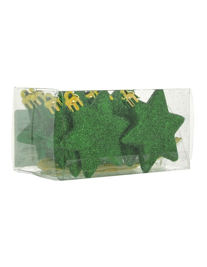 Eucalyptus 8 Pieces - Cameo Green Glitter Star Pack image 2