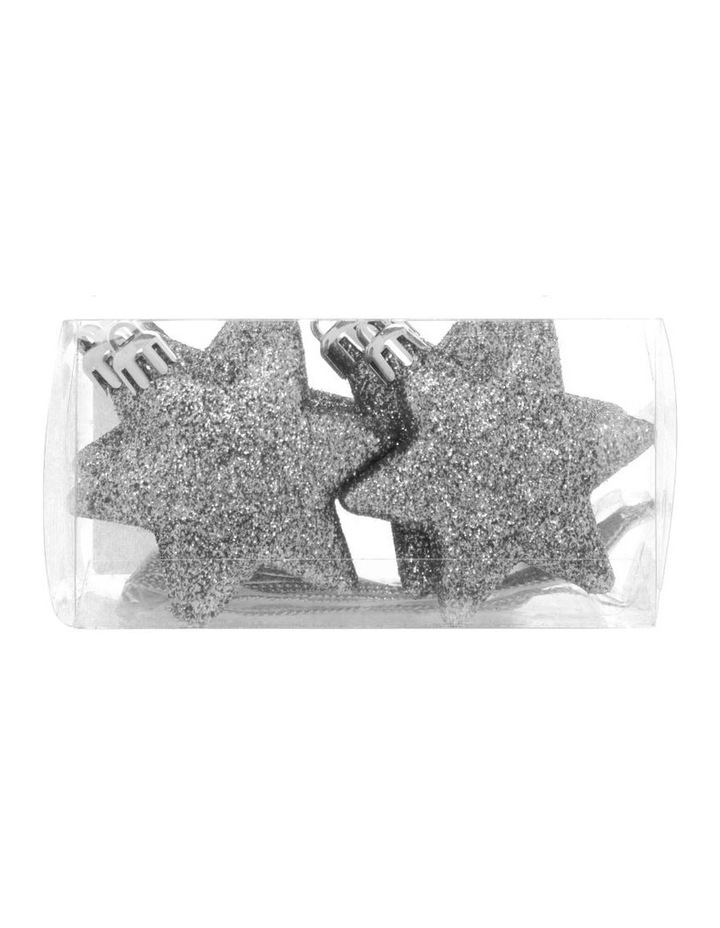 Eucalyptus 8 Pieces - Silver Glitter Star Pack image 1