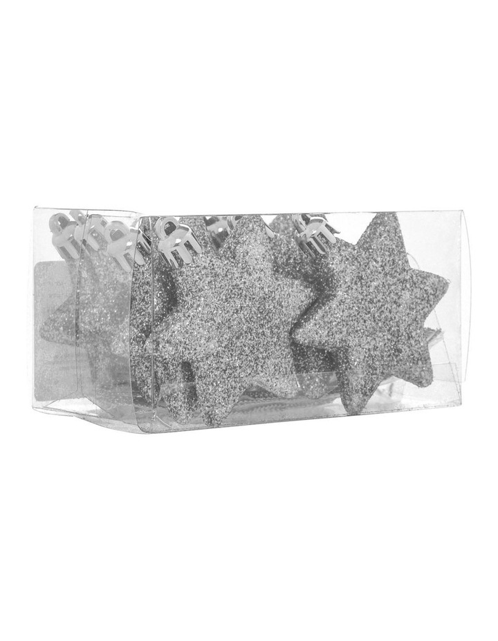 Eucalyptus 8 Pieces - Silver Glitter Star Pack image 2